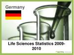 life sciences statistics 2009 2010