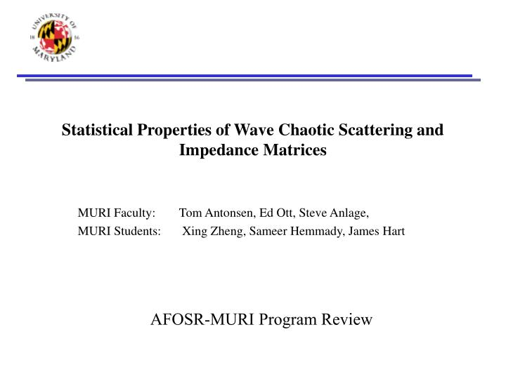 statistical properties of wave chaotic scattering and impedance matrices n.