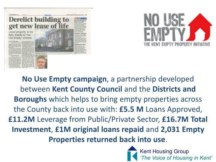 No Use Empty campaign