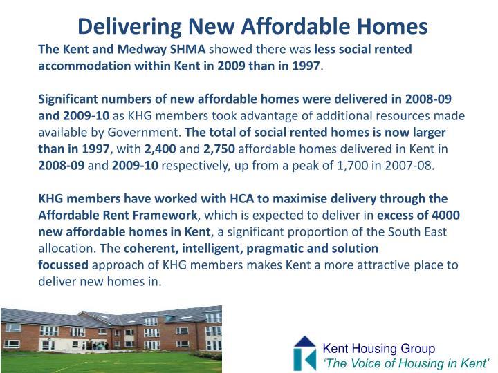 Delivering New Affordable Homes