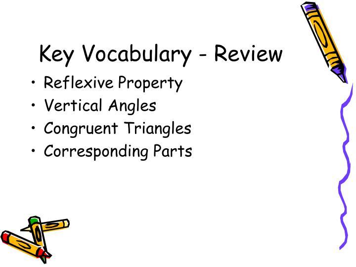 Key vocabulary review