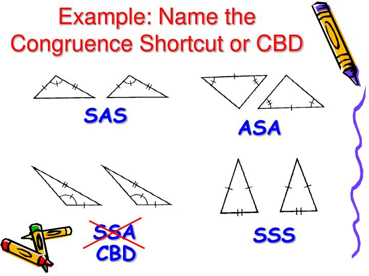 Example: Name the Congruence Shortcut