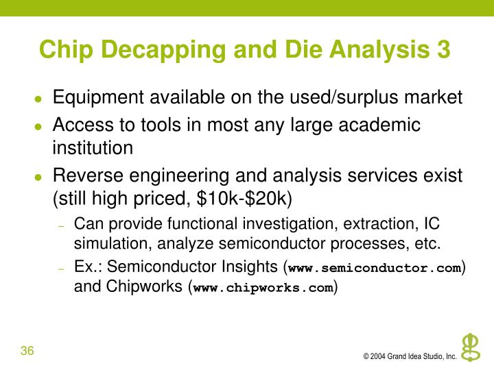 Chip Decapping and Die Analysis 3