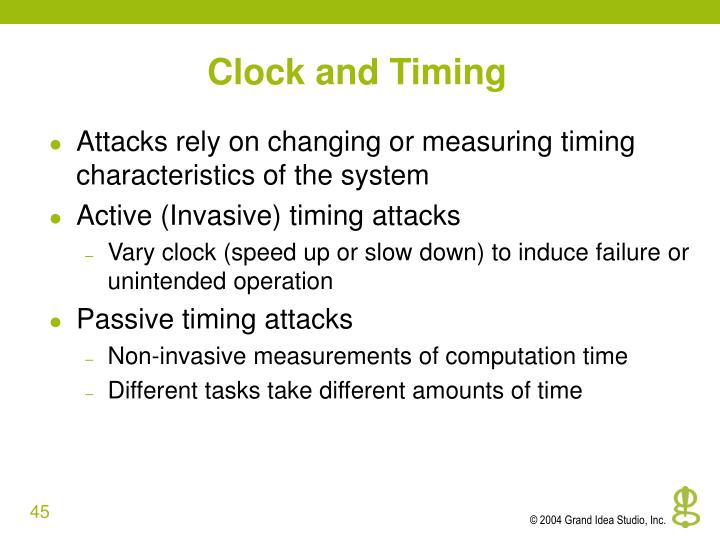 Clock and Timing