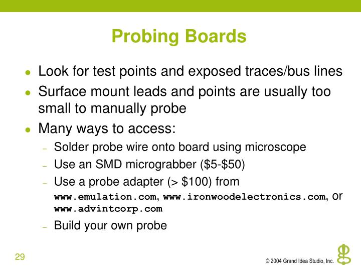 Probing Boards
