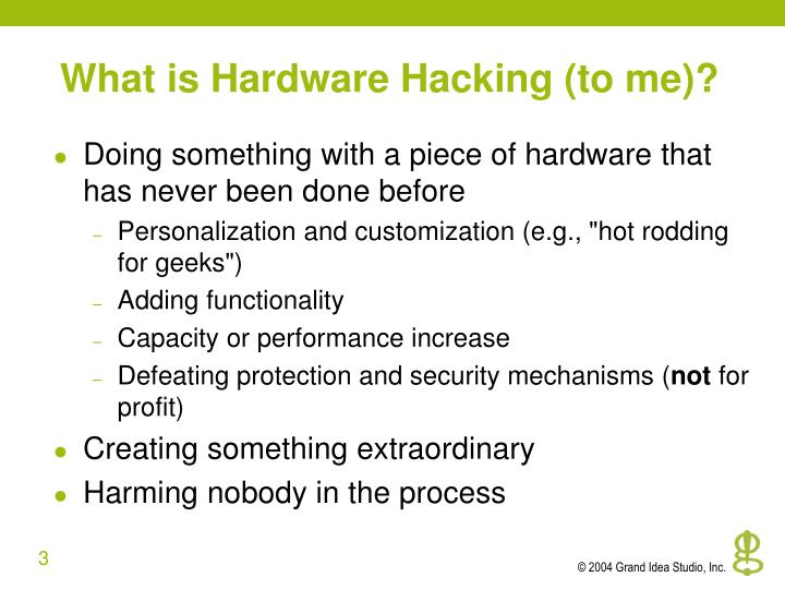 What is hardware hacking to me