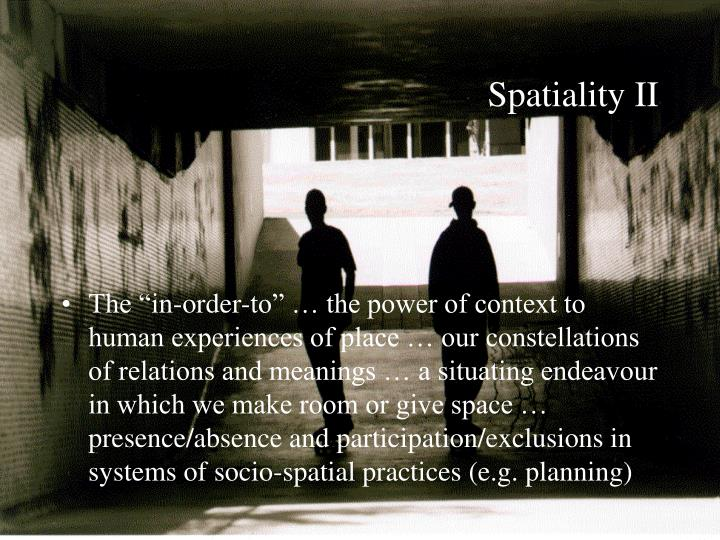 Spatiality II