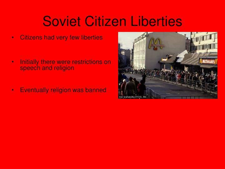 Soviet Citizen Liberties