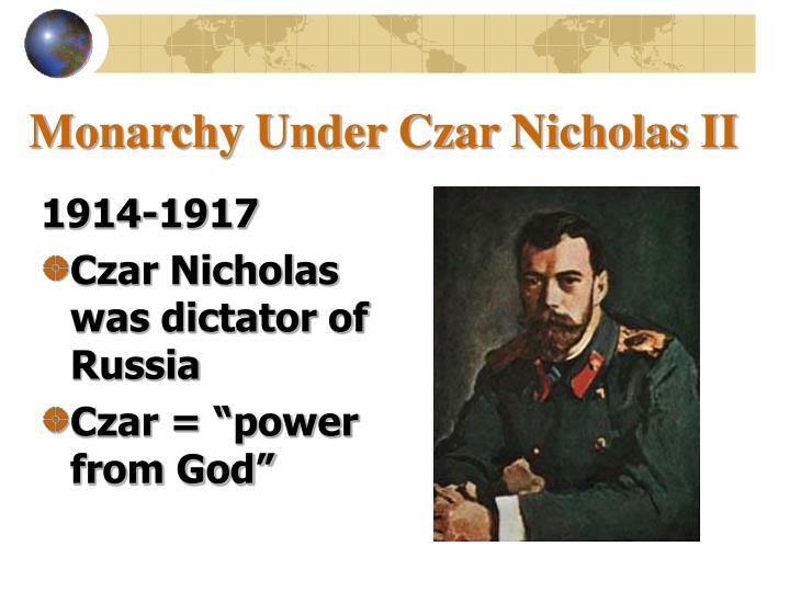 Monarchy under czar nicholas ii