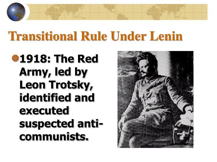 Transitional Rule Under Lenin