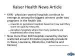 kaiser health news article