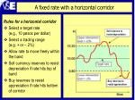 a fixed rate with a horizontal corridor