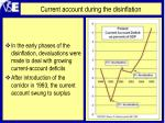 current account during the disinflation