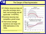 the danger of real appreciation
