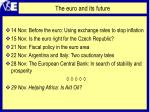 the euro and its future