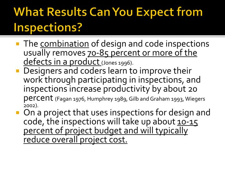 What Results Can You Expect from Inspections