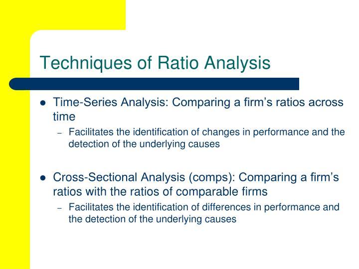 cross sectional ratio analysis