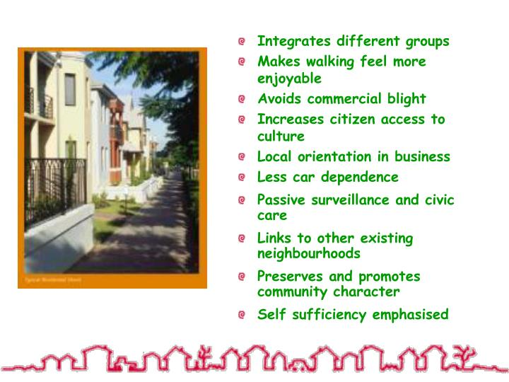 Integrates different groups