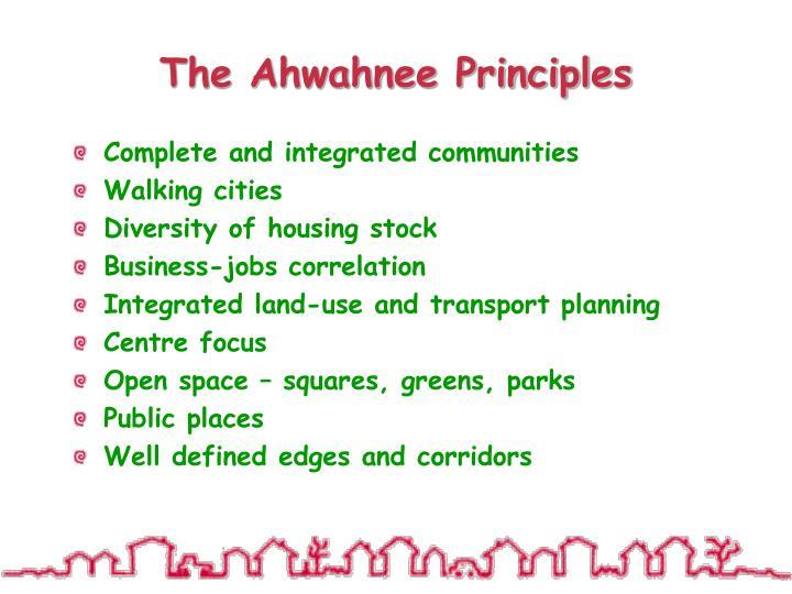 The Ahwahnee Principles