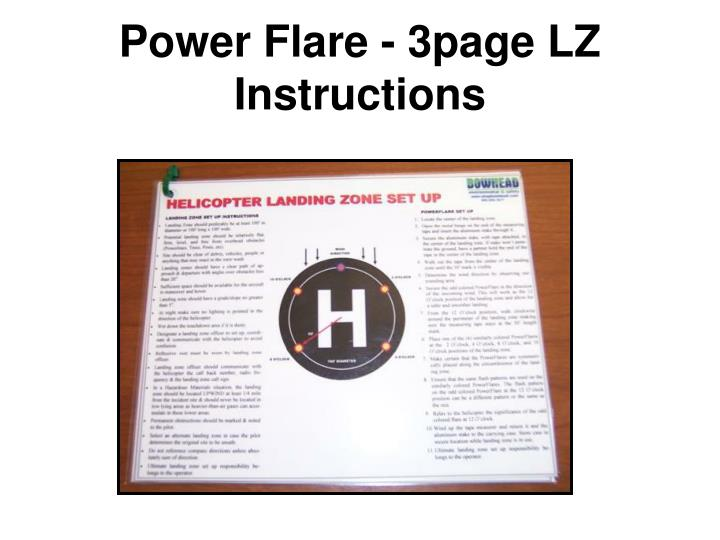 Power Flare - 3page LZ Instructions