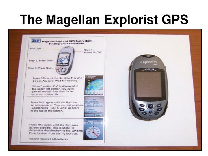 The magellan explorist gps