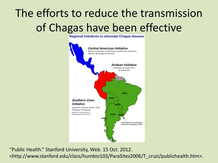 The efforts to reduce the transmission of