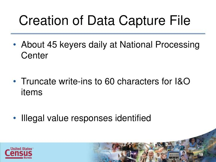 Creation of Data Capture File