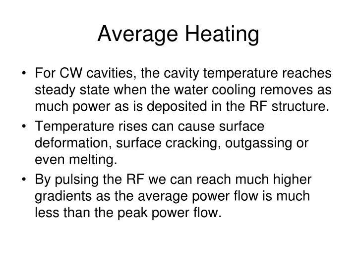 Average heating