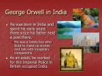 george orwell in india