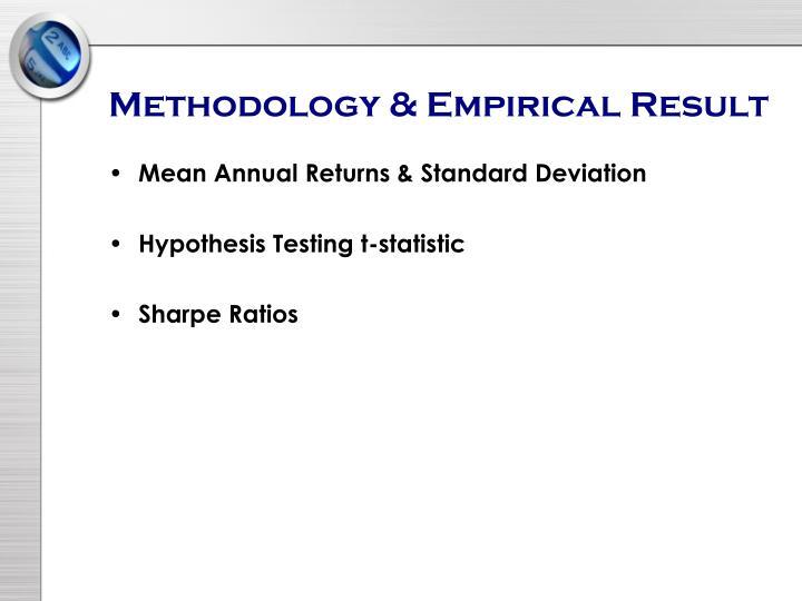 Methodology & Empirical Result