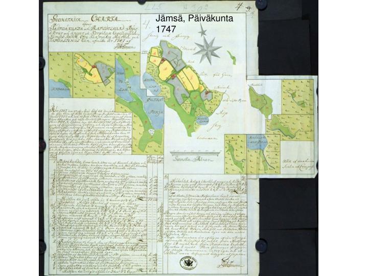 Jämsä, Päiväkunta 1747