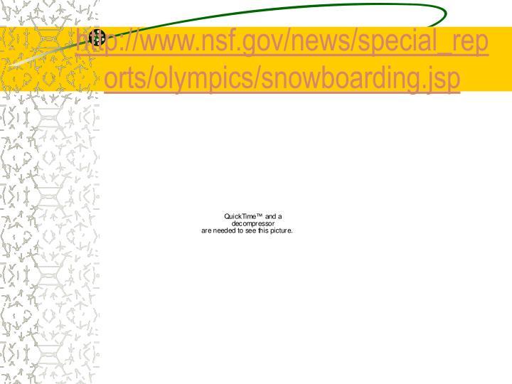 Http www nsf gov news special reports olympics snowboarding jsp