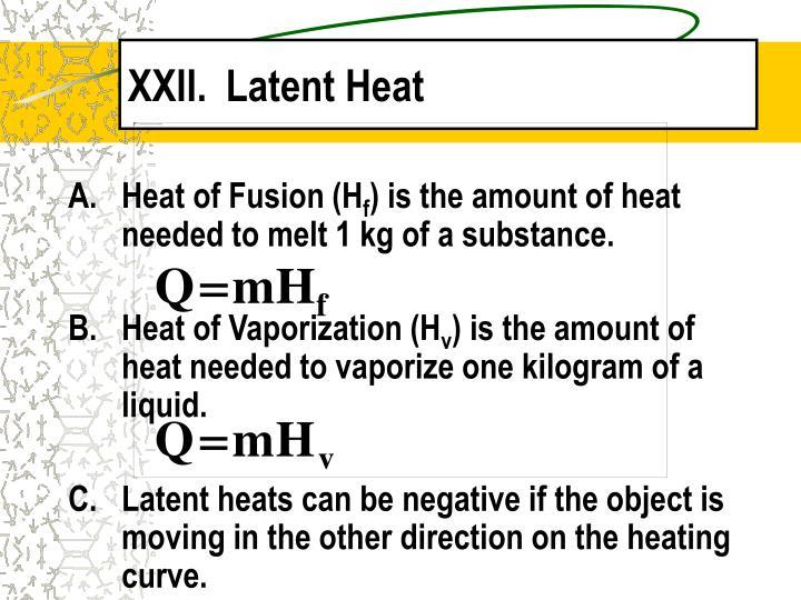 Latent Heat