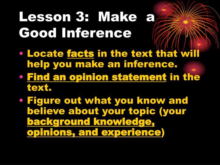 Lesson 3:  Make  a