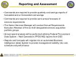 reporting and assessment