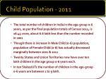 child population 2011