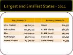 largest and smallest states 2011