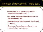 number of households india 2011