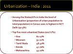 urbanization india 2011
