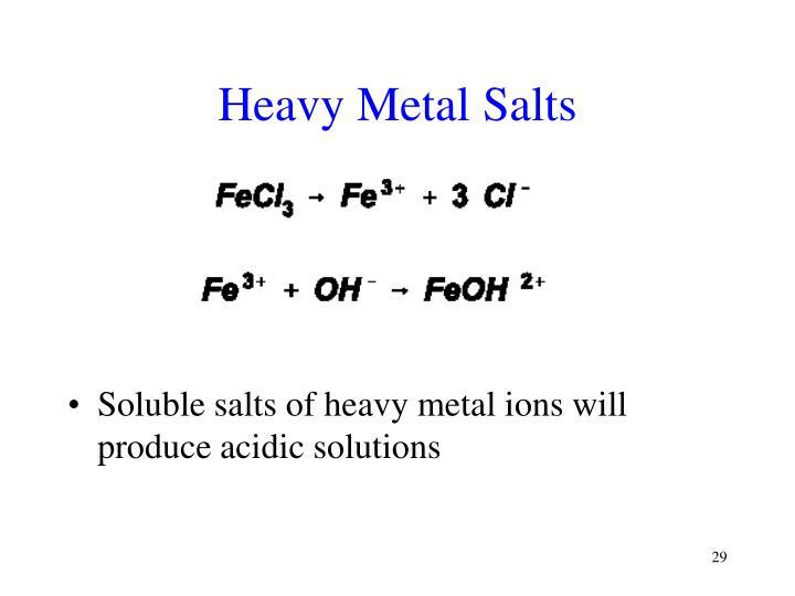 Heavy Metal Salts