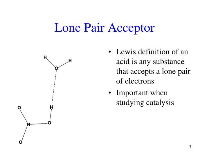 Lone pair acceptor