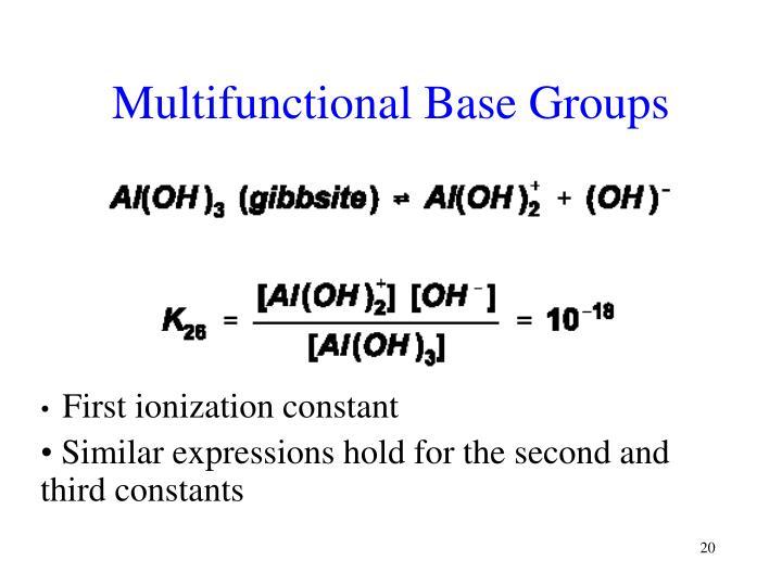 Multifunctional Base Groups