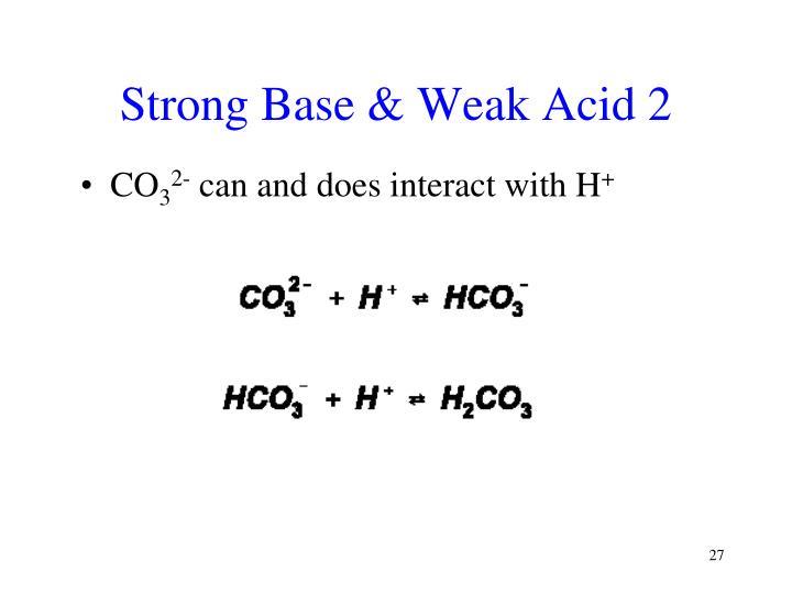 Strong Base & Weak Acid 2