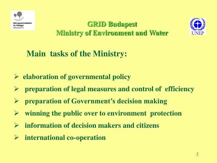 Grid budapest ministry of environment and water