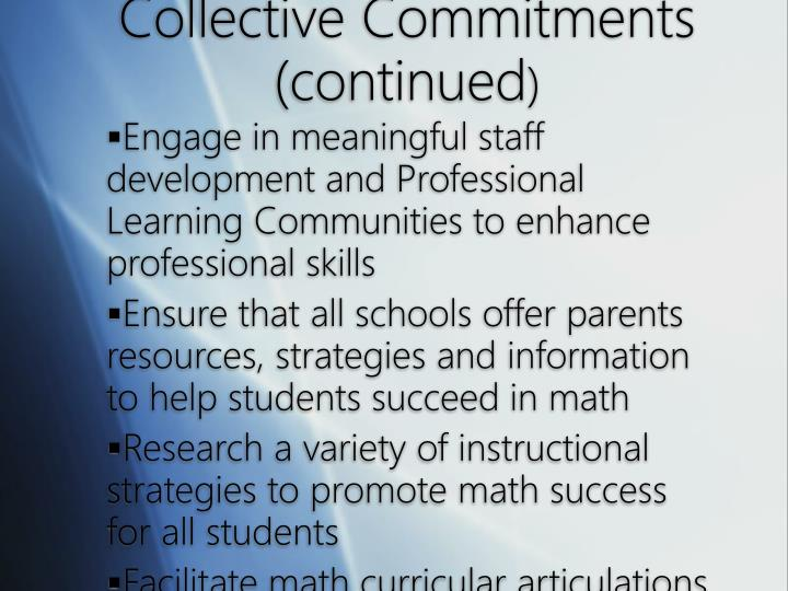 Collective Commitments (continued