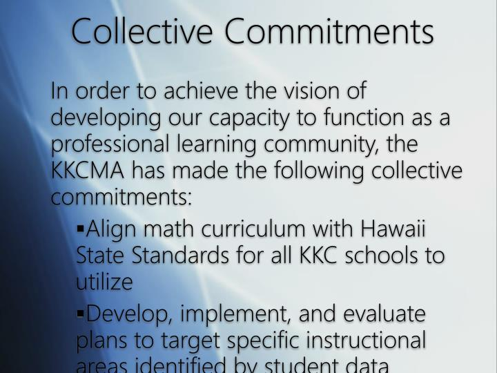Collective Commitments