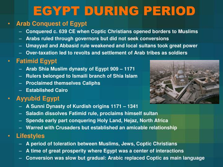 EGYPT DURING PERIOD
