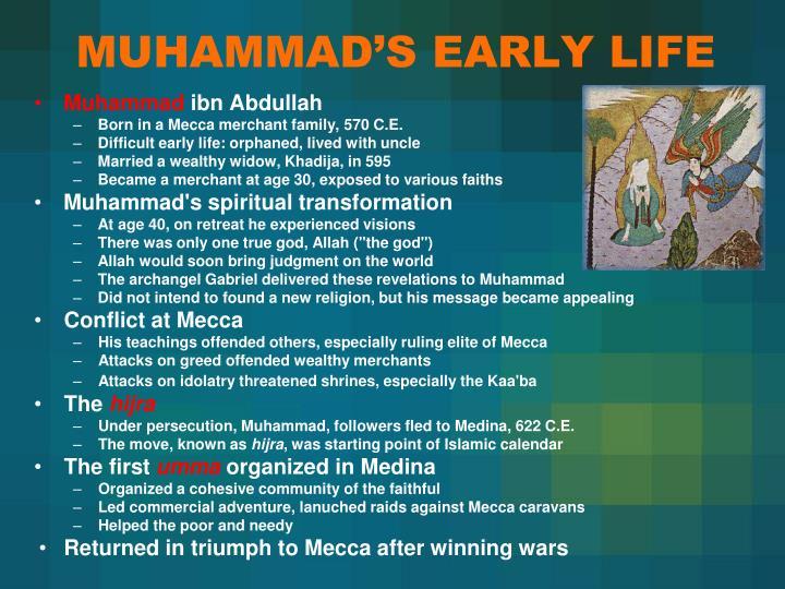 MUHAMMAD'S EARLY LIFE