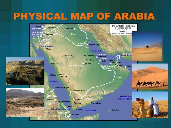 PHYSICAL MAP OF ARABIA