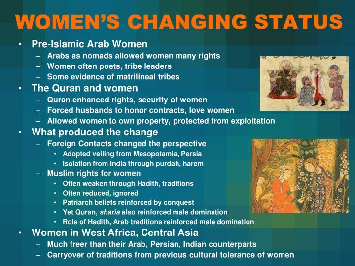 WOMEN'S CHANGING STATUS
